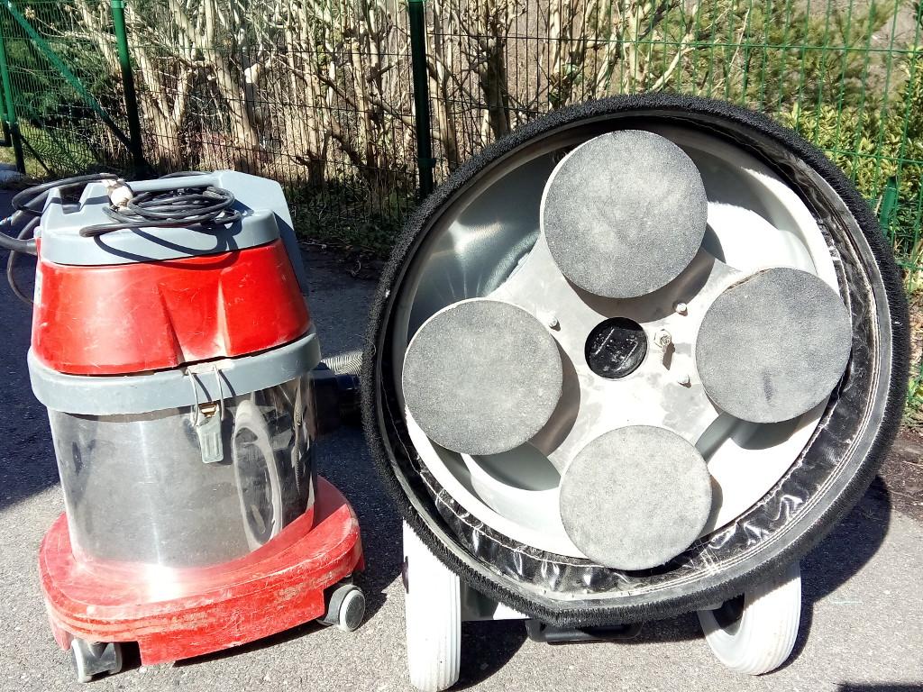 Ponceuse de finition à 4 disques indépendants pour une finition sans traces